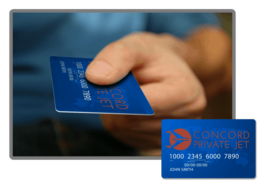 someone handing over a jet card